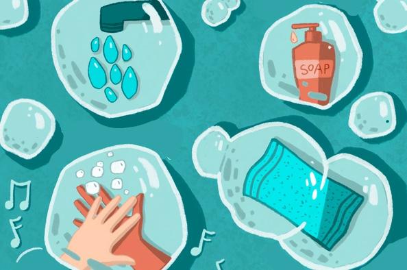 Szappanos kézmosás és kézfertőtlenítés