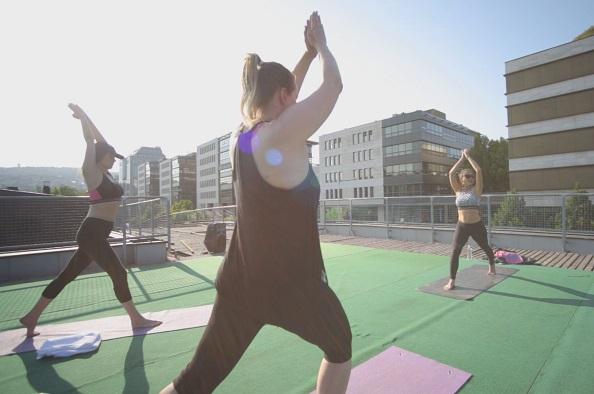 Rooftop jóga – egy másik dimenzió